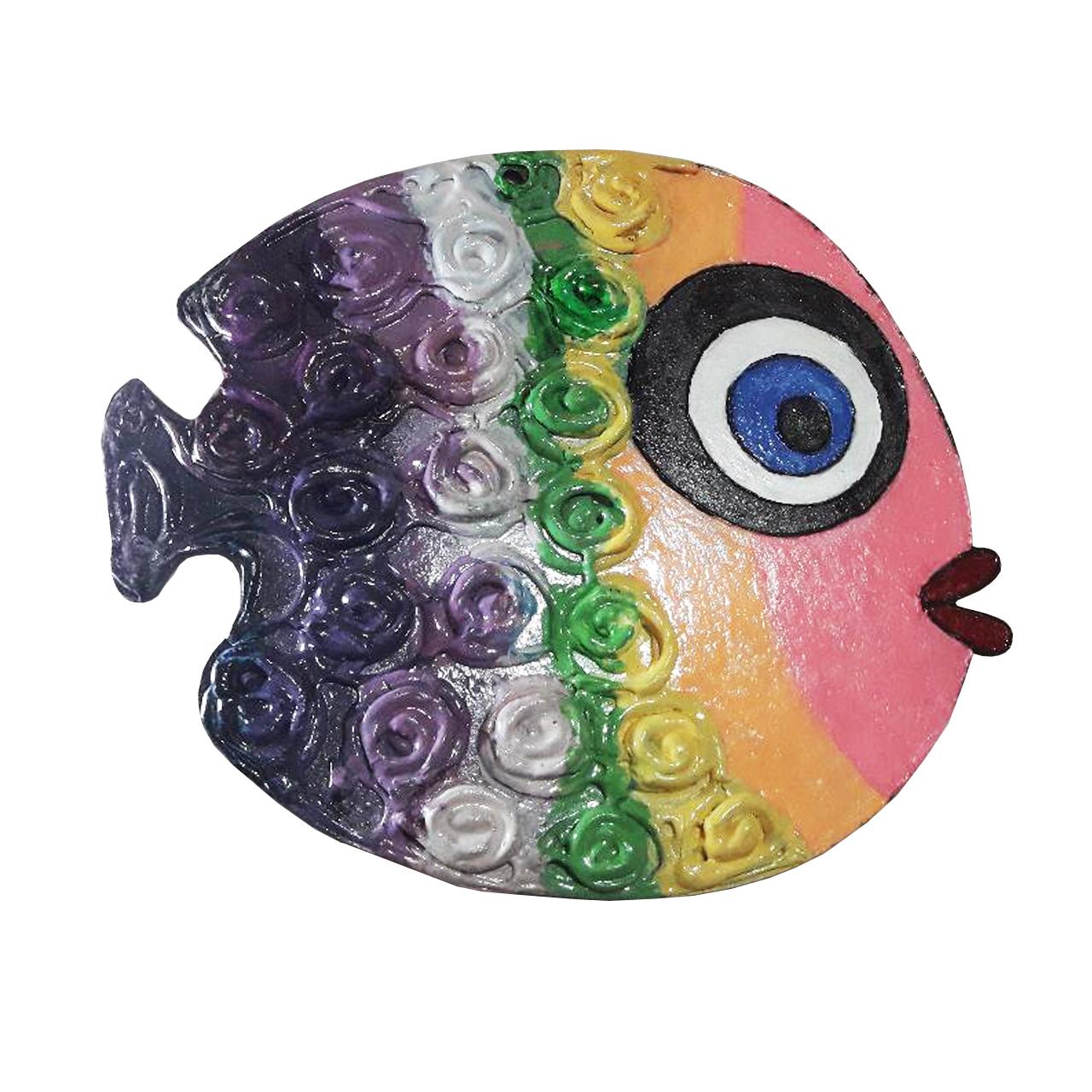 تابلو مدل ماهی رنگین کمان کد PT-03-01