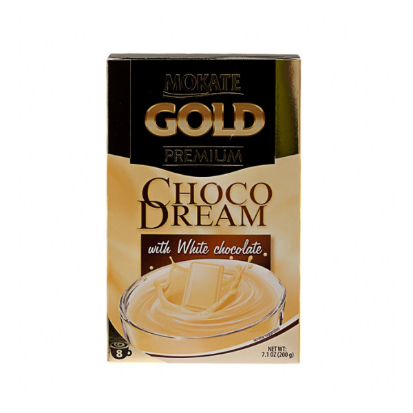 پودر قهوه شکلات سفید موکاته طرح Permium Gold بسته 8 عددی