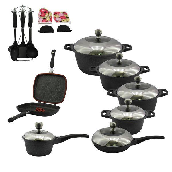 سرویس پخت و پز 25 پارچه لاکی هوم مدل پرمیموم