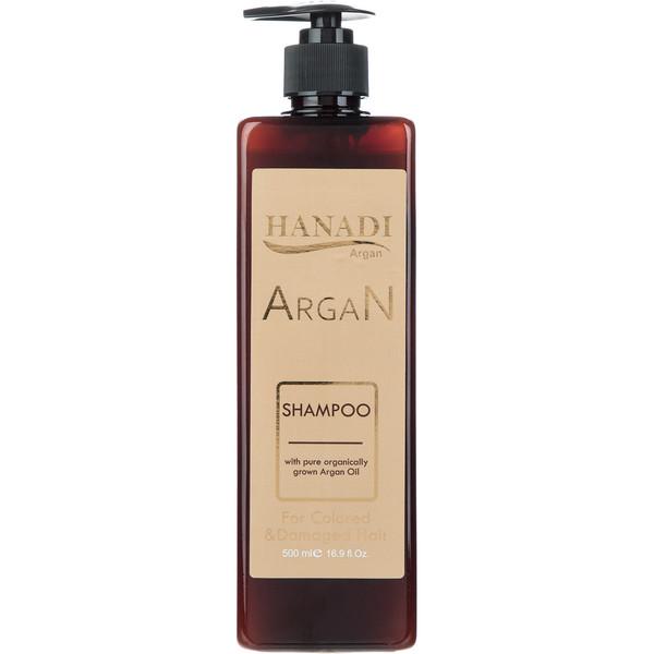 شامپو موهای رنگ شده هانادی Argan Oil مدل حجم 500 میلی لیتر