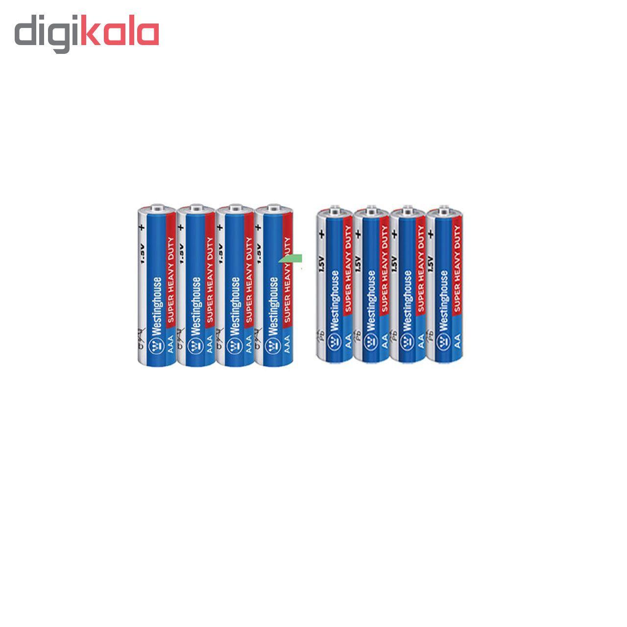 باتری قلمی و نیم قلمی وستینگ هاوس مدل Super Heavy Duty بسته 8 عددی main 1 1