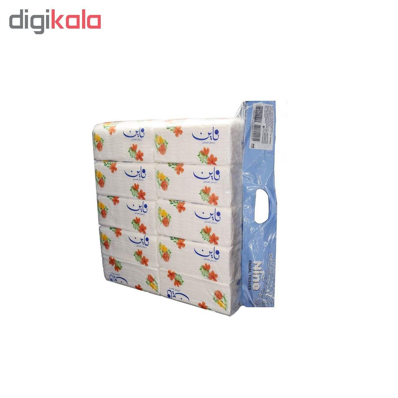 دستمال کاغذی 200 برگ اقتصادی ناین بسته 10 عددی main 1 1