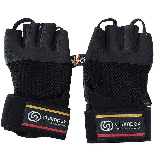 دستکش تمرین با وزنه چمپکس مدل Gear Man مچ بند دار سایز متوسط