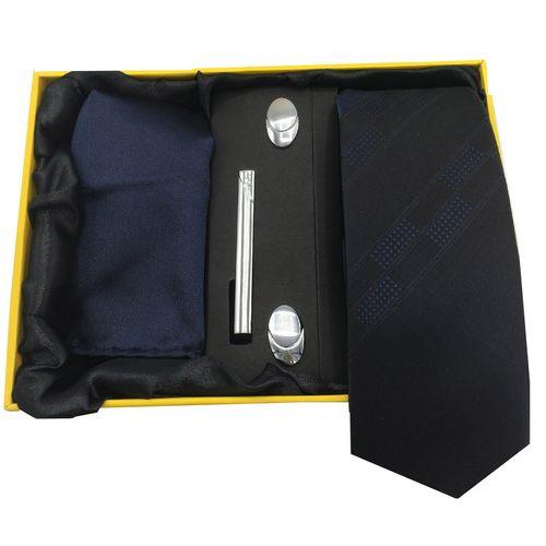 ست کراوات، گیره، دستمال و دکمه سردست هکس ایران مدل AF-FUL SET-SRM2