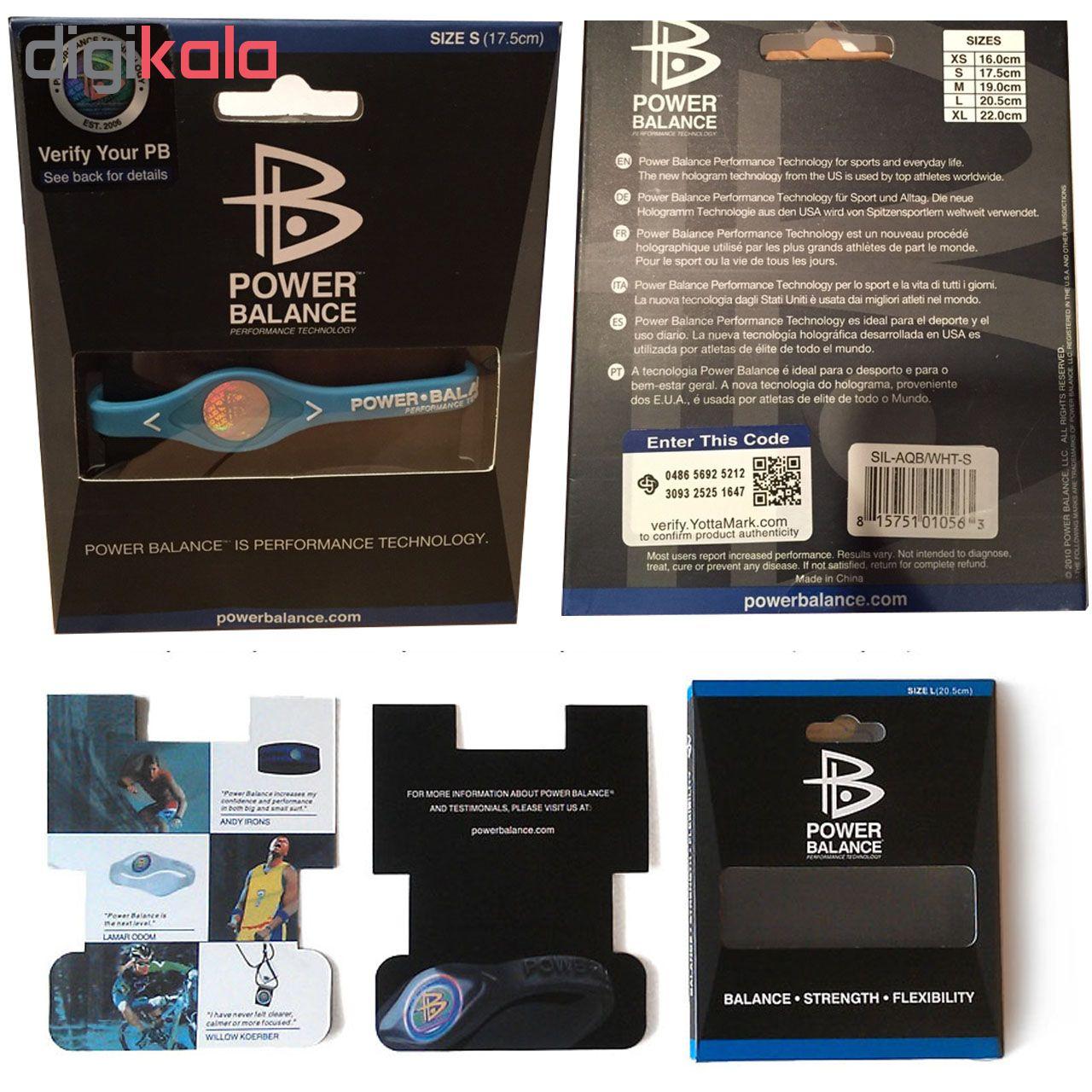 دستبند مغناطیسی پاور بالانس مدل BLACK Power Balance SIZE M