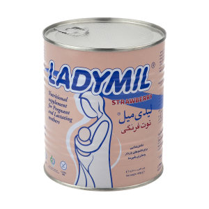 مکمل غذایی مادران باردار و شیرده لیدی میل با طعم توت فرنگی - 400 گرم