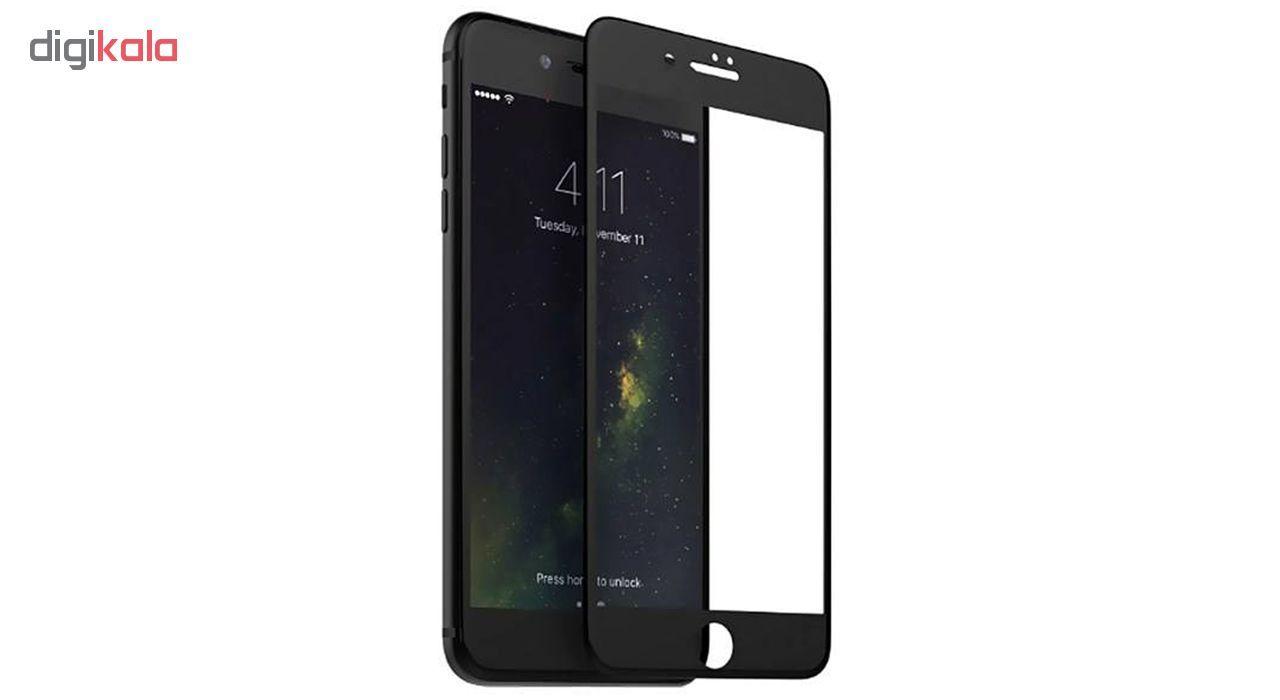 محافظ صفحه نمایش شیشه ای مات مدل Full Cover مناسب برای گوشی موبایل اپل iPhone 6/6S Plus main 1 1