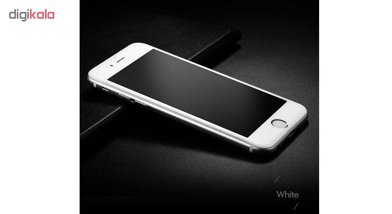 محافظ صفحه نمایش شیشه ای مات مدل Full Cover مناسب برای گوشی موبایل اپل iPhone 6/6S Plus main 1 2