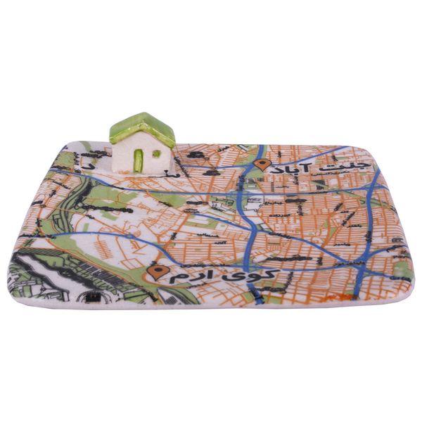 بشقاب نردبام طرح کلبه نقشه جنت آباد مدل 00-12