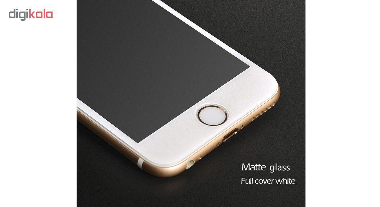 محافظ صفحه نمایش شیشه ای مات مدل Full Cover مناسب برای گوشی موبایل اپل iPhone 6/6S Plus main 1 4
