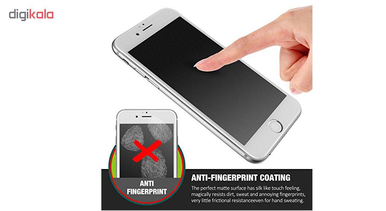 محافظ صفحه نمایش شیشه ای مات مدل Full Cover مناسب برای گوشی موبایل اپل iPhone 6/6S Plus main 1 5