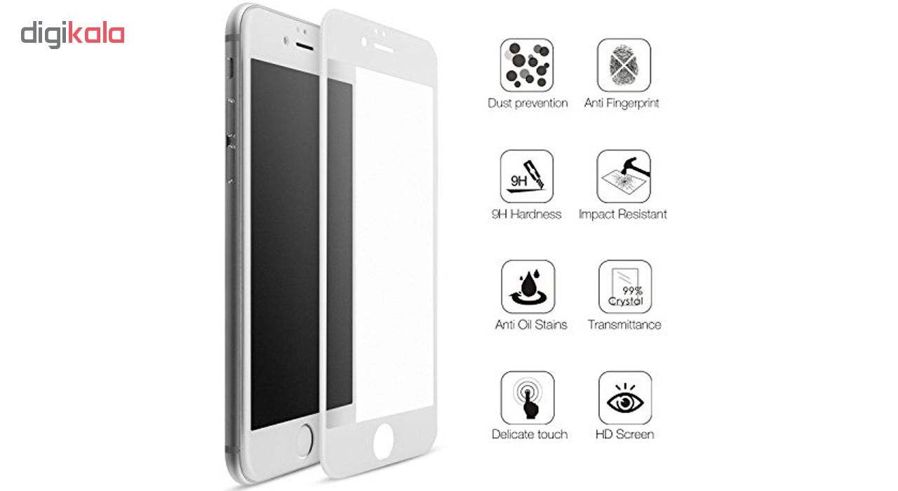 محافظ صفحه نمایش شیشه ای مات مدل Full Cover مناسب برای گوشی موبایل اپل iPhone 6/6S Plus main 1 6