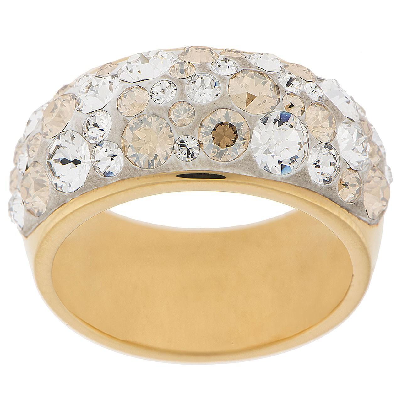 انگشتر الیور وبر مدل Chic Gold Crystal 41112GM