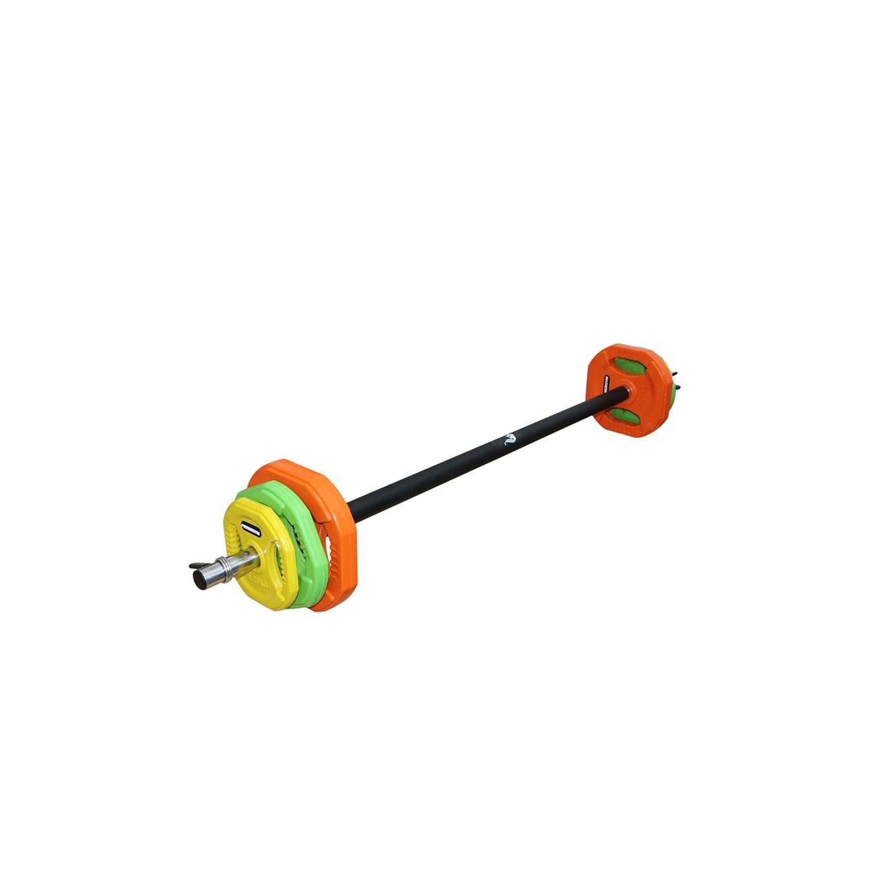 میله هالتر پاورجیم مدل 001 به همراه وزنه پامپ