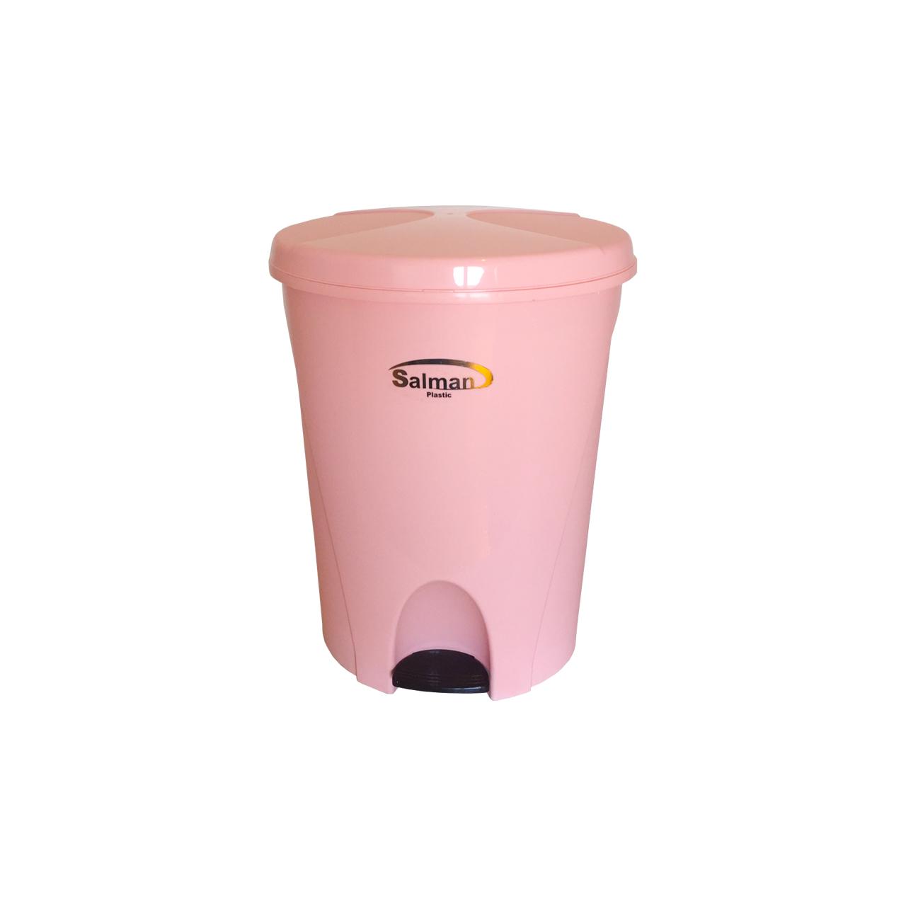 سطل زباله پدالی سلمان پلاستیک مدل گلبرگ 340