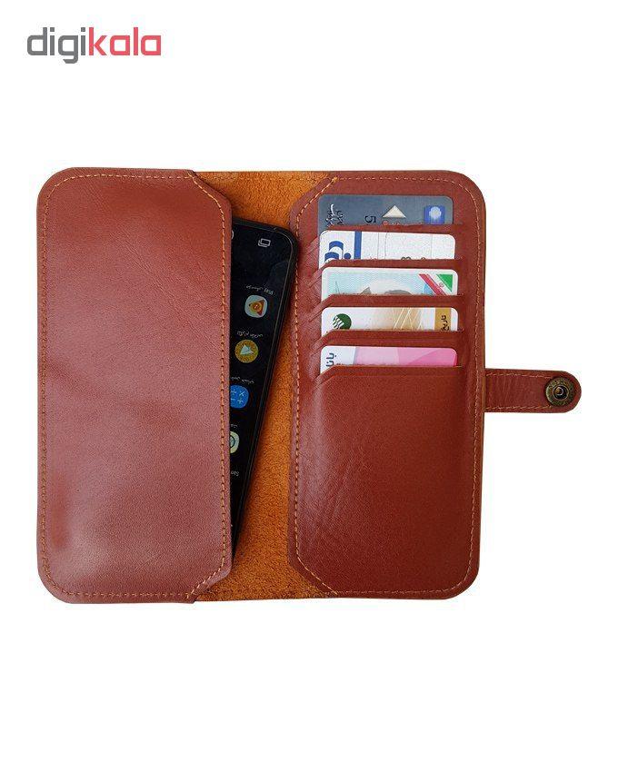 کیف پول و موبایل چرم زانکو مدل KM-220