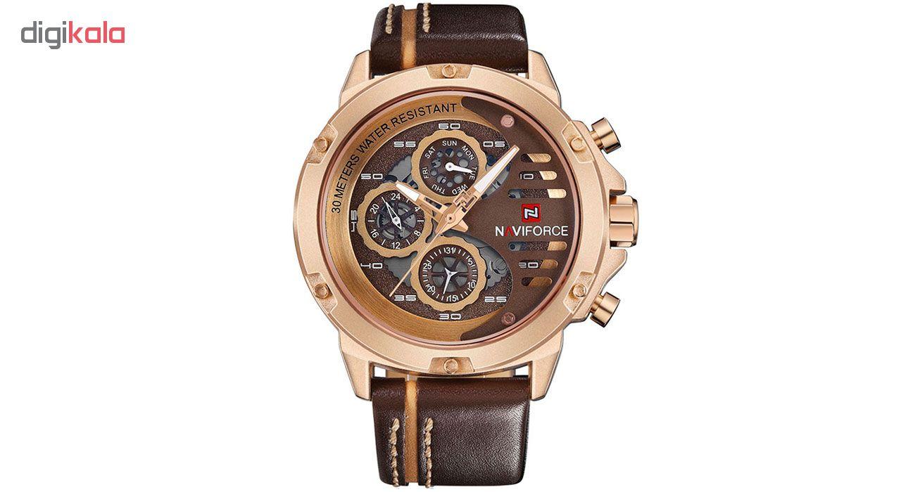 خرید ساعت مچی عقربهای مردانه نیوی فورس مدل NF9110RGCEBN