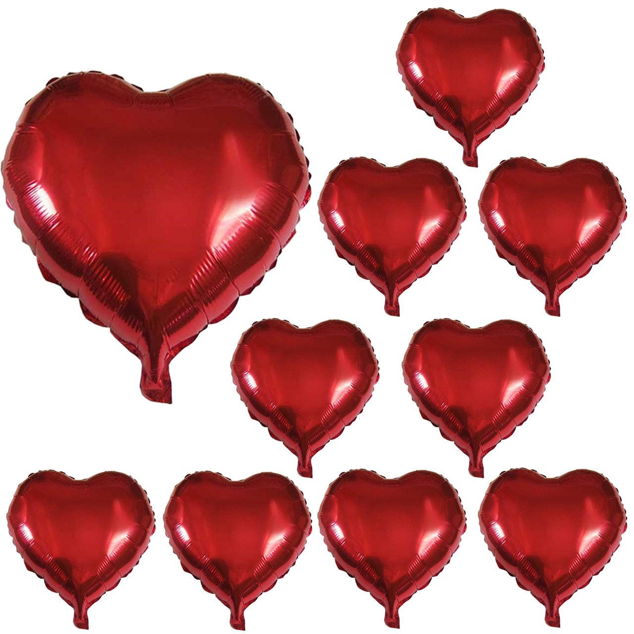 عکس بادکنک فویلی مدل Love مجموعه 10 عددی