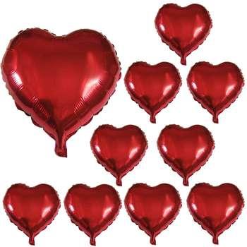 بادکنک فویلی مدل Love مجموعه 10 عددی