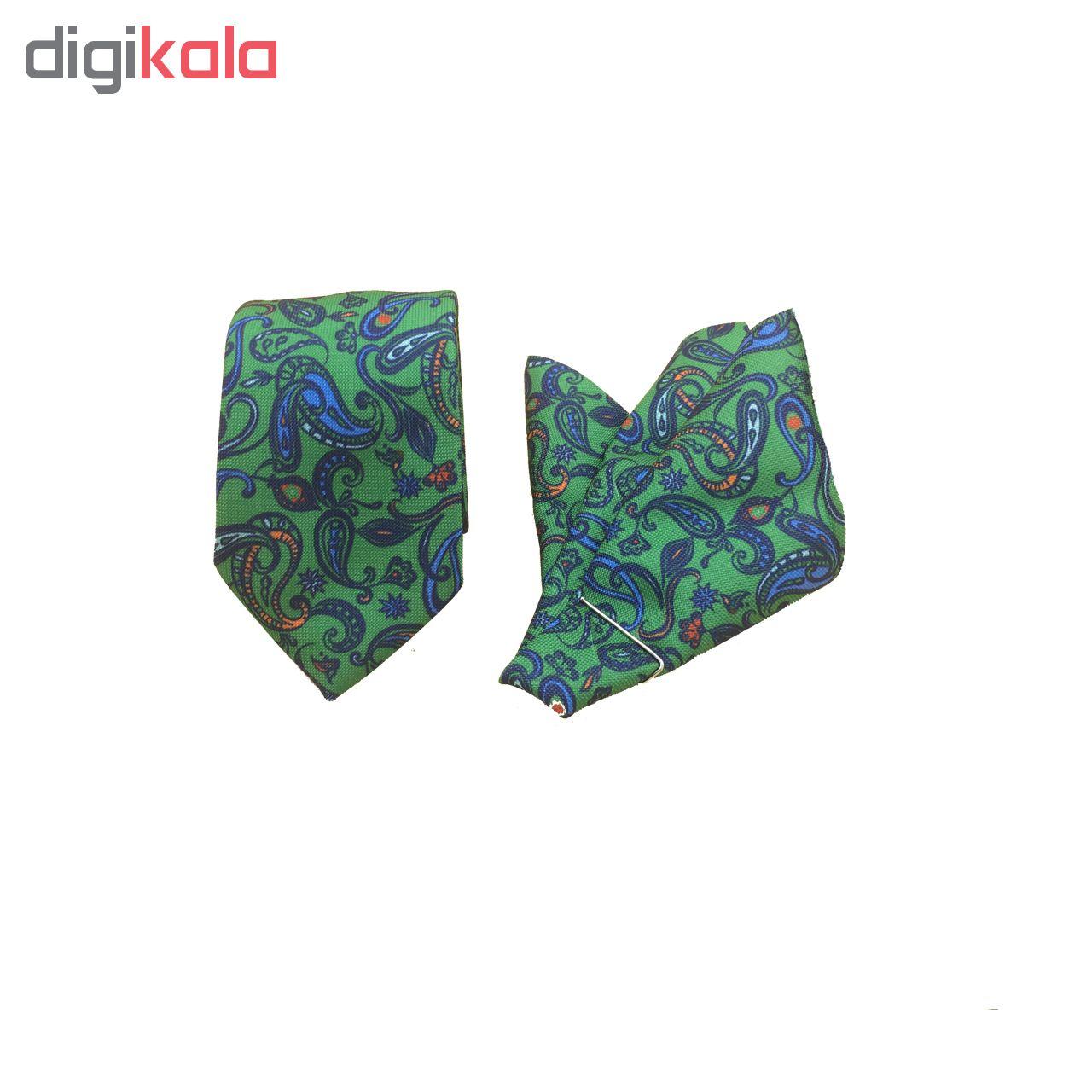 ست کراوات و دستمال جیب مدل BT-06