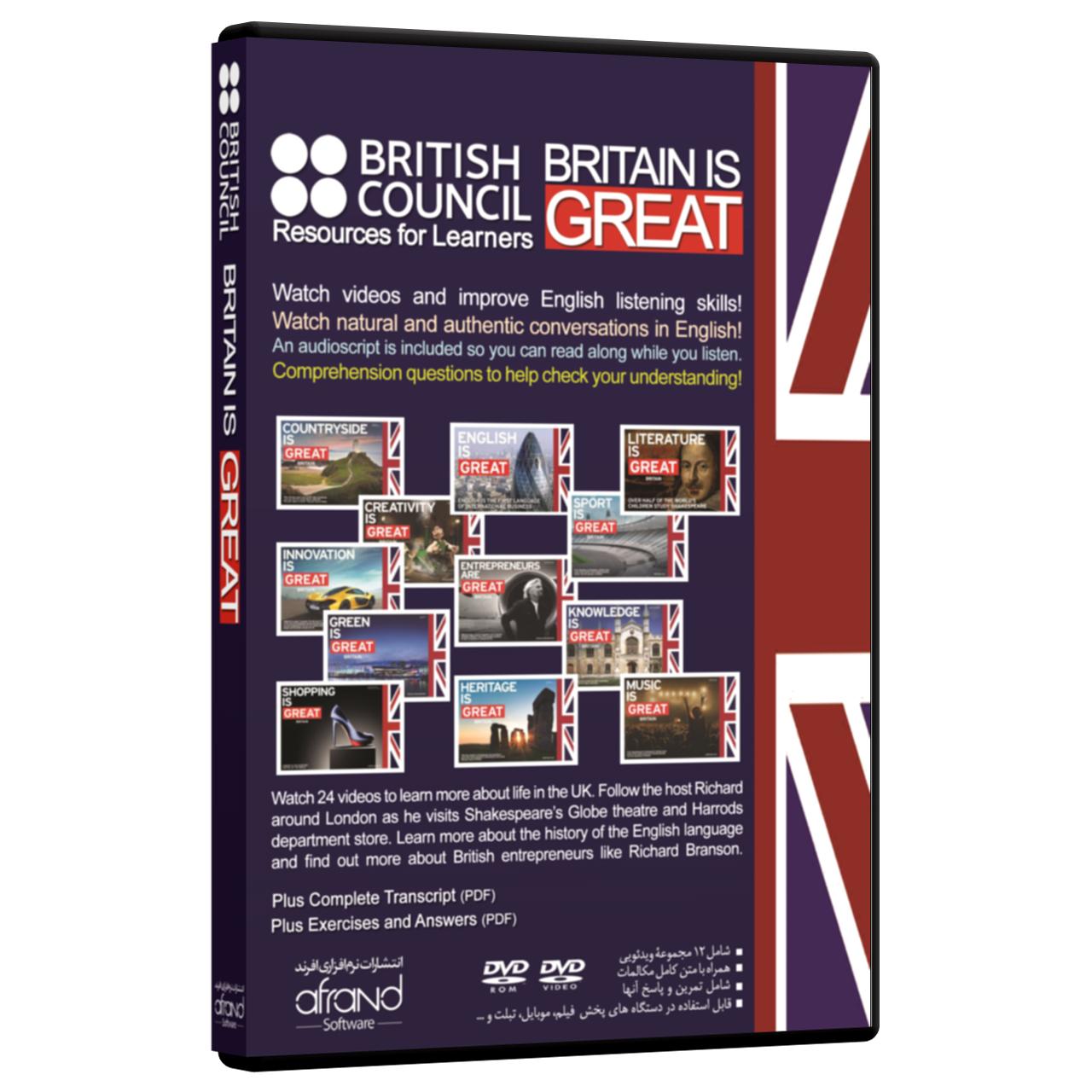 فیلم مستند تقویت مهارت زبان انگلیسی Britain is Great انتشارات نرم افزاری افرند