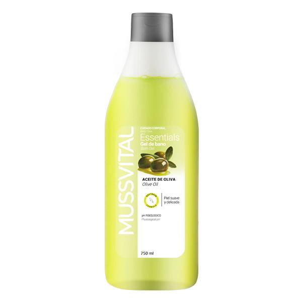 ژل شست و شوی بدن موسویتال مدل Essential olive bath gel حجم 750 میلی لیتر