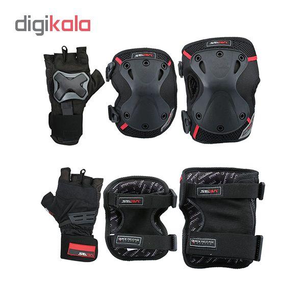 لوازم ایمنی اسکیت سبا مدل Protective 3 Pack Pro XLarge Size