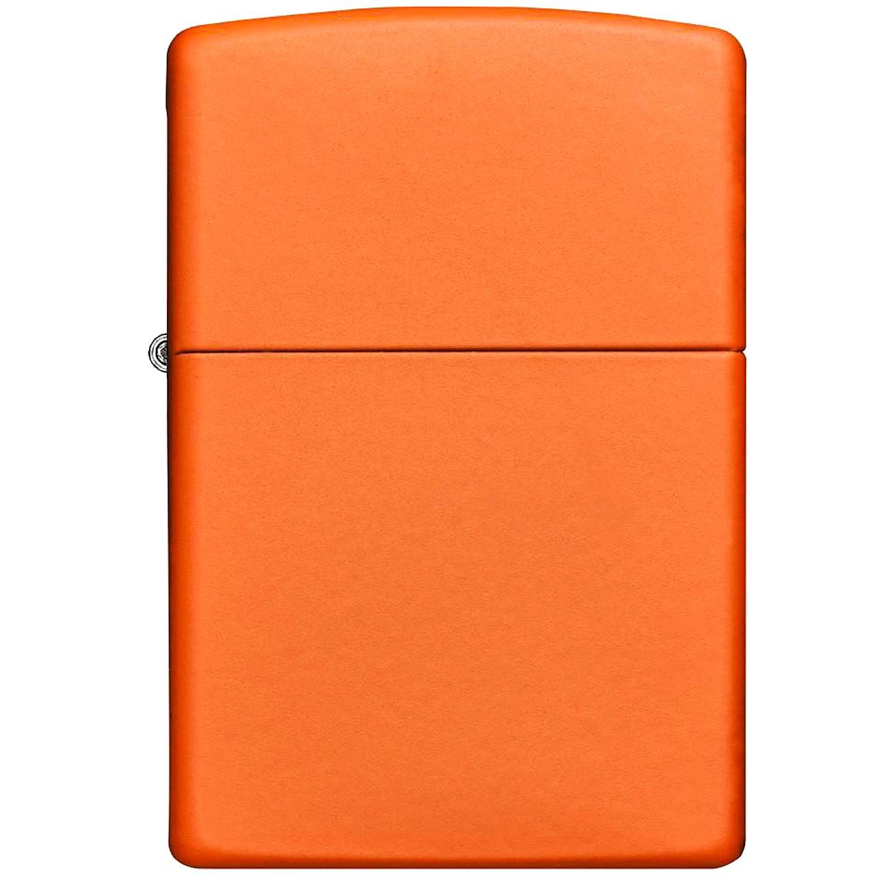 فندک زیپو مدل Reg Orange Matte کد 231