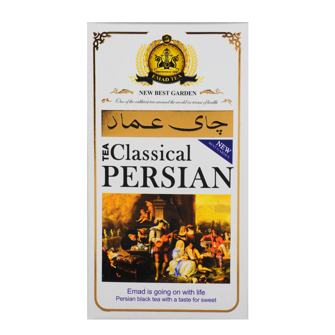 چای عماد مدل ایرانی کلاسیک مقدار 400 گرم
