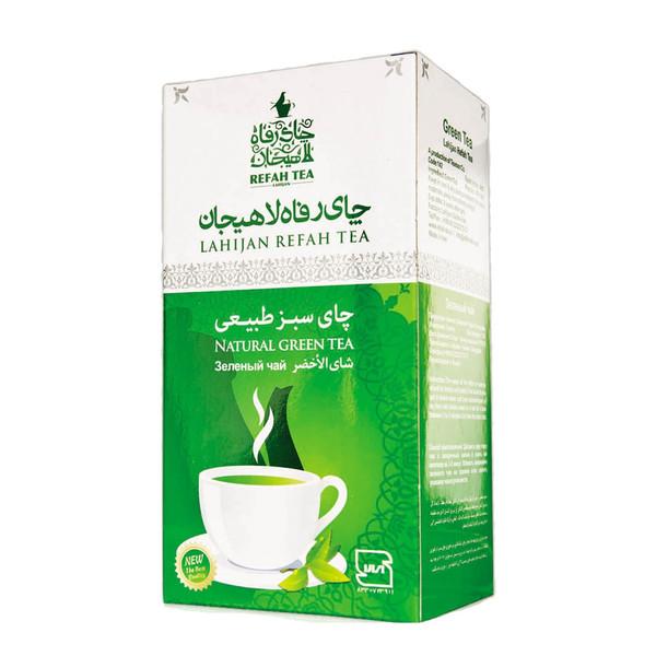 بسته چای سبز رفاه لاهیجان مدل سبز طبیعی 210 گرمی