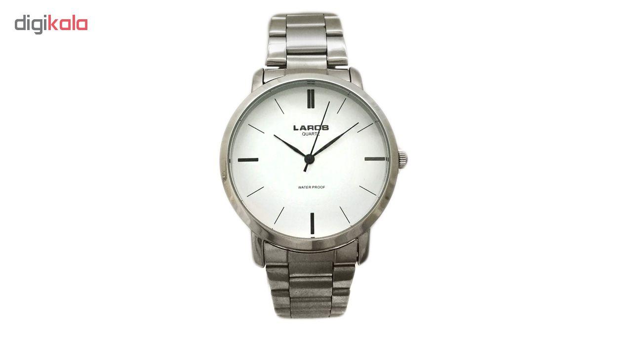 ساعت مچی عقربه ای لاروس مدل ساده 0817-79945