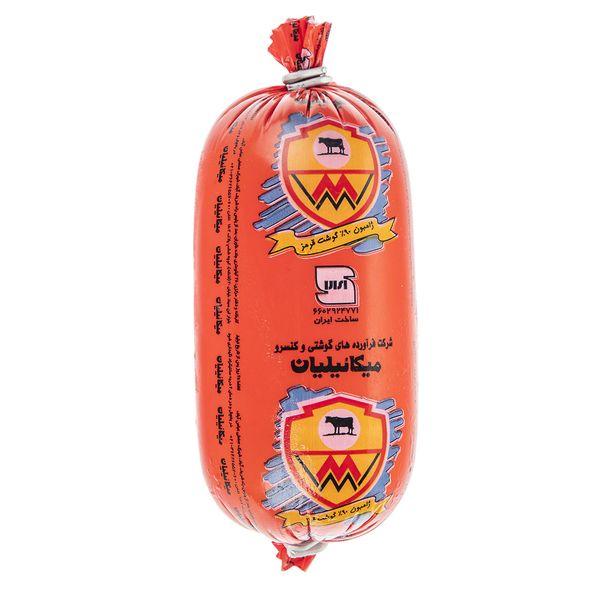 کالباس خشک گوشت قرمز 90% میکائیلیان مقدار 600 گرم