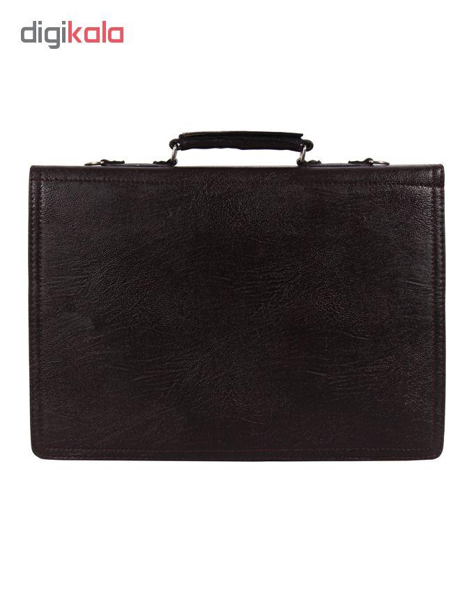 کیف اداری مردانه رویال چرم کد BF5-DarkBrown
