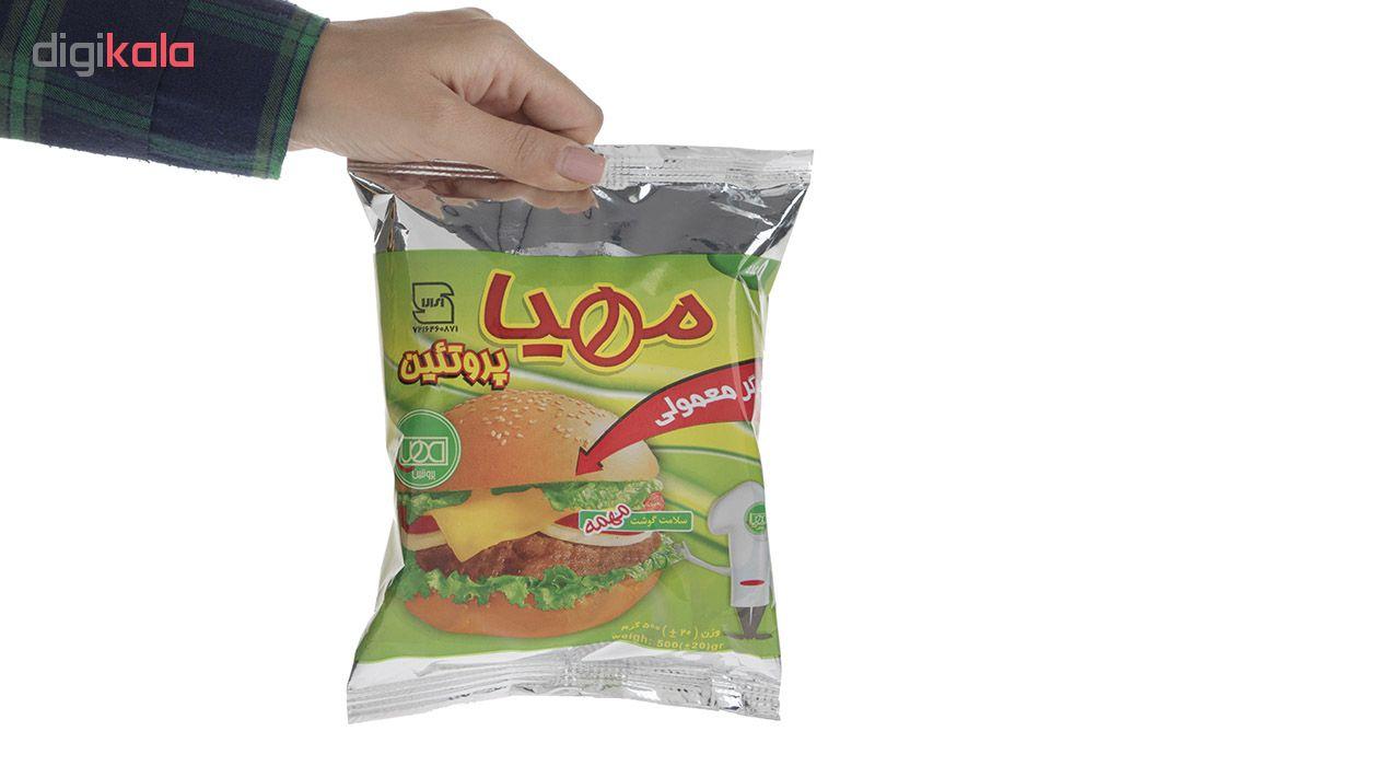 همبرگر معمولی مهیا پروتئین مقدار 500 گرم main 1 4