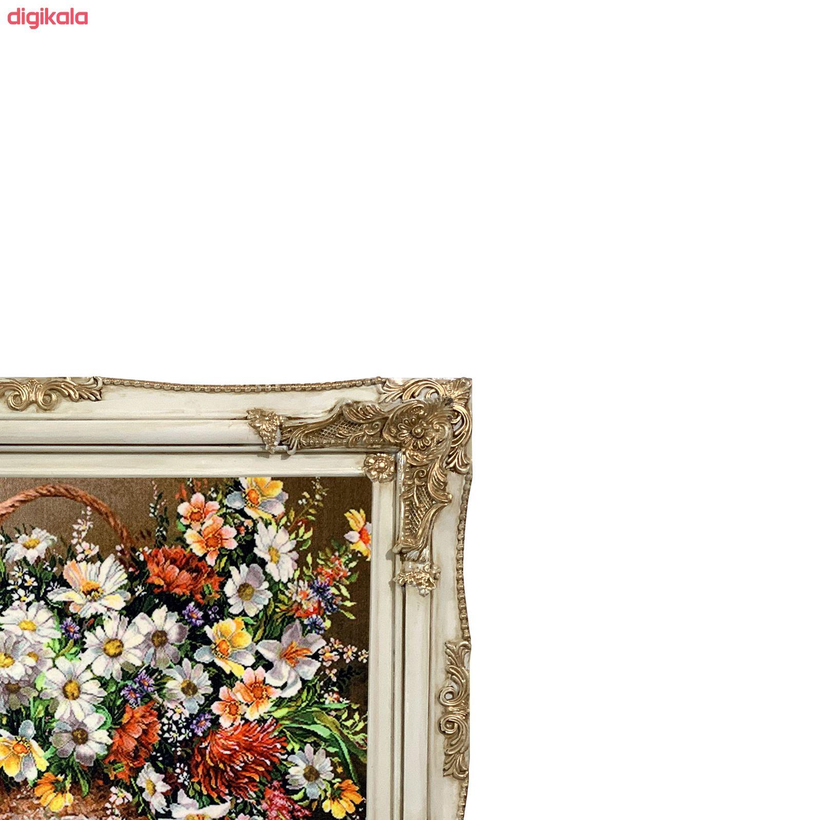 تابلو فرش ماشینی طرح سبد گل کد ۷۳۳۷ main 1 1