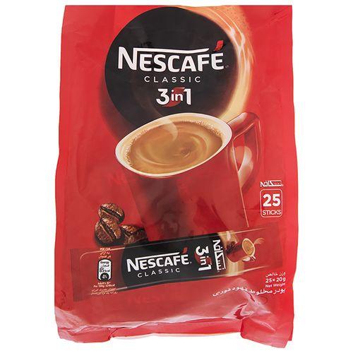 قهوه فوری کافی میکس نسکافه 3 در 1 بسته 25 عددی
