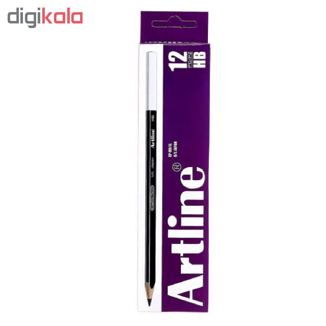 مداد مشکی آرت لاین مدل HB بسته 12 عددی main 1 1