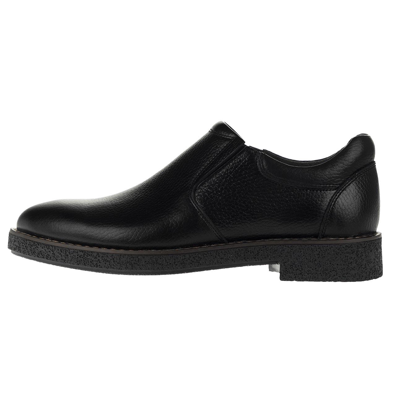 کفش مردانه مدل ریکو بی بند مشکی کد05