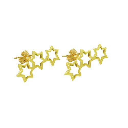 گوشواره زنانه طرح سه ستاره