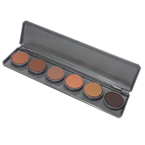 پالت 6 رنگ سایه چشم فشرده یوتری اف مدل Compact Powder شماره 2