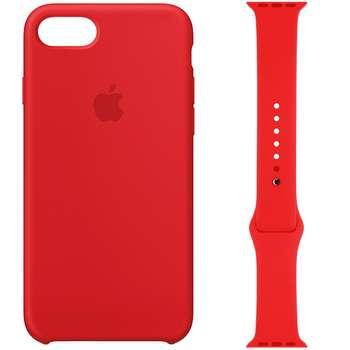 کاور سیلیکونی مدل 008 مناسب برای اپل آیفون 7/8 به همراه بند اپل واچ 42 میلیمتری