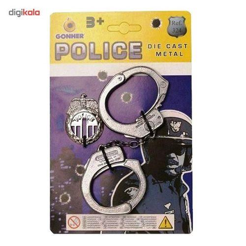 دستبند فلزی گانهر سری پلیس کد 324/0