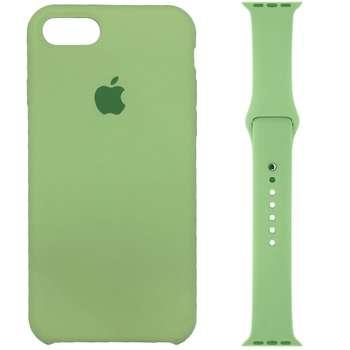 کاور سیلیکونی مدل 013 مناسب برای اپل آیفون 7/8 به همراه بند اپل واچ 38 میلیمتری
