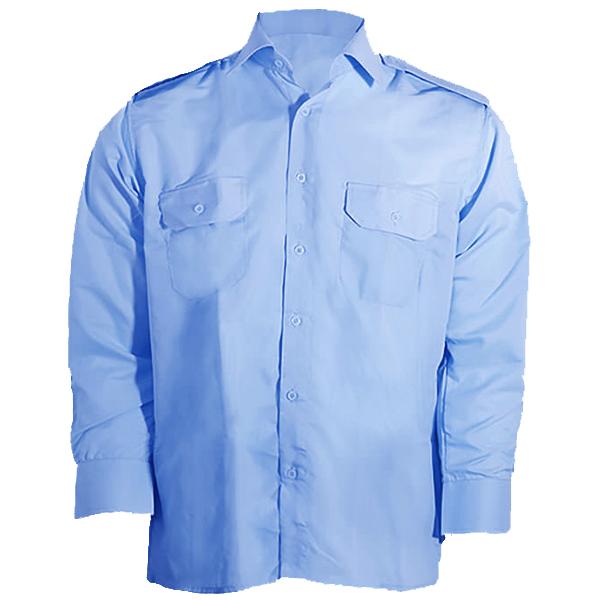 پیراهن مردانه نگهبانی و اداری سبلان مدل آبی