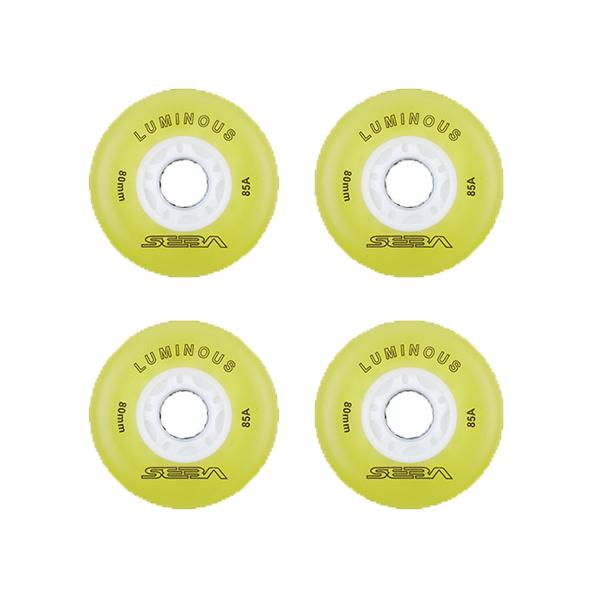 چرخ اسکیت سبا مدل Luminous 76MM بسته 4 عددی