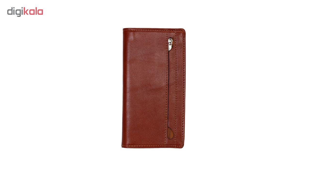 کیف پول رویال چرم کد M9-Brown