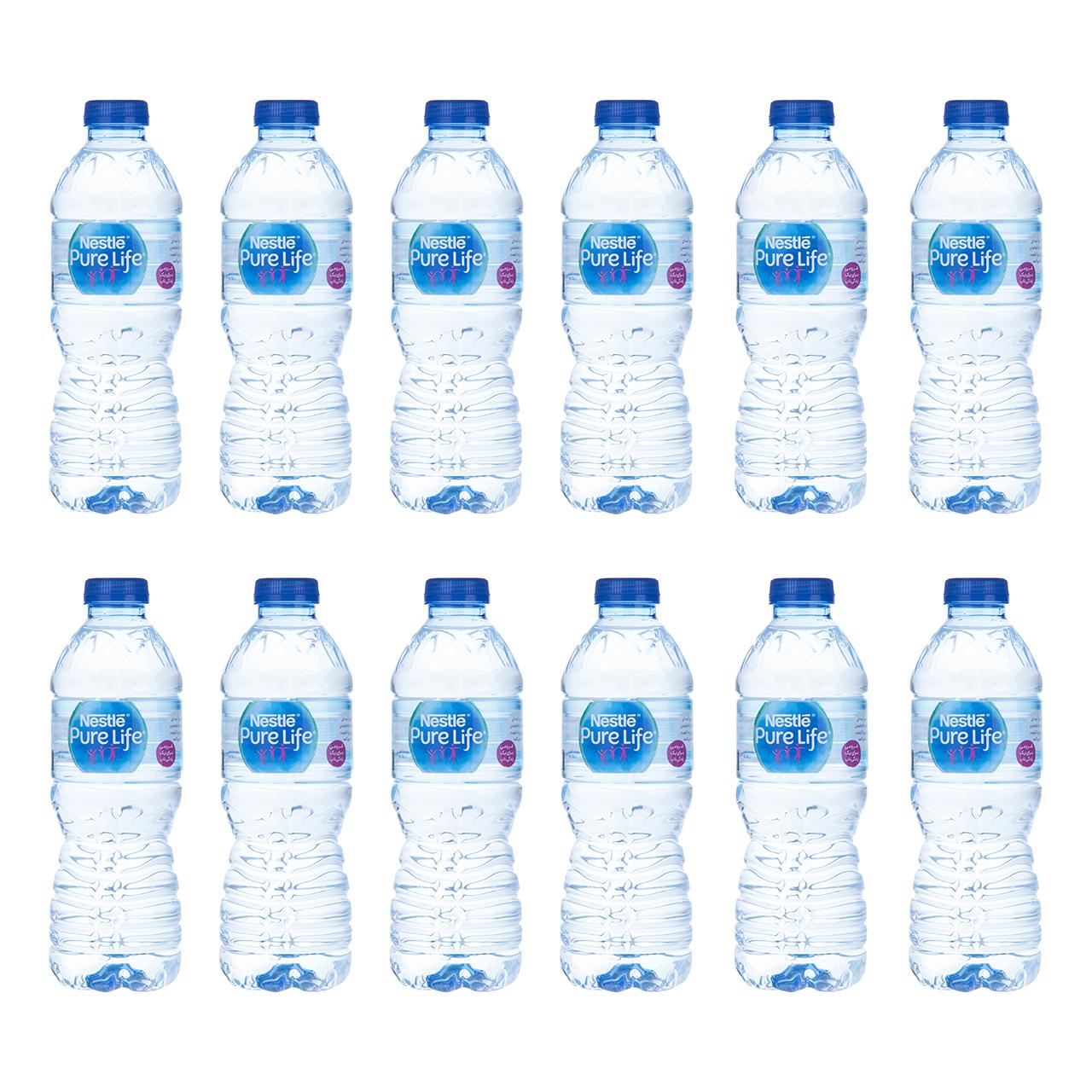 آب آشامیدنی نستله مقدار 0.5 لیتر بسته 12 عددی