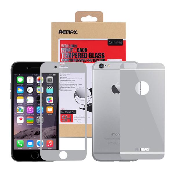 محافظ صفحه نمایش شیشه ای و پشت ریمکس مدل Full Cover مناسب برای گوشی موبایل iPhone 6 Plus/6s Plus