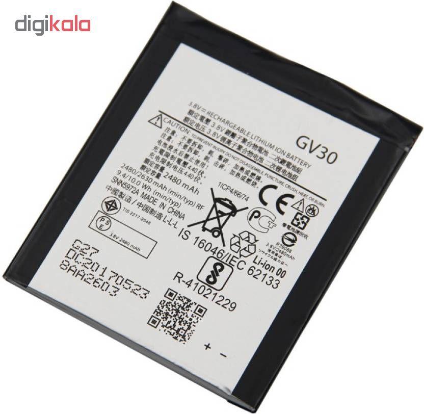 باتری موبایل مدل GV30 ظرفیت 2480 میلی آمپر ساعت مناسب برای گوشی موبایل موتورولا Moto main 1 1