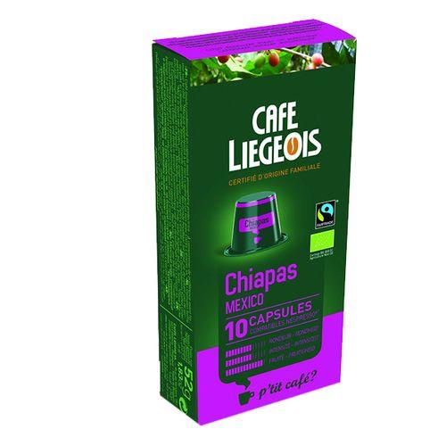 کپسول قهوه cafe liegeois مدل Chiapas Mecxico
